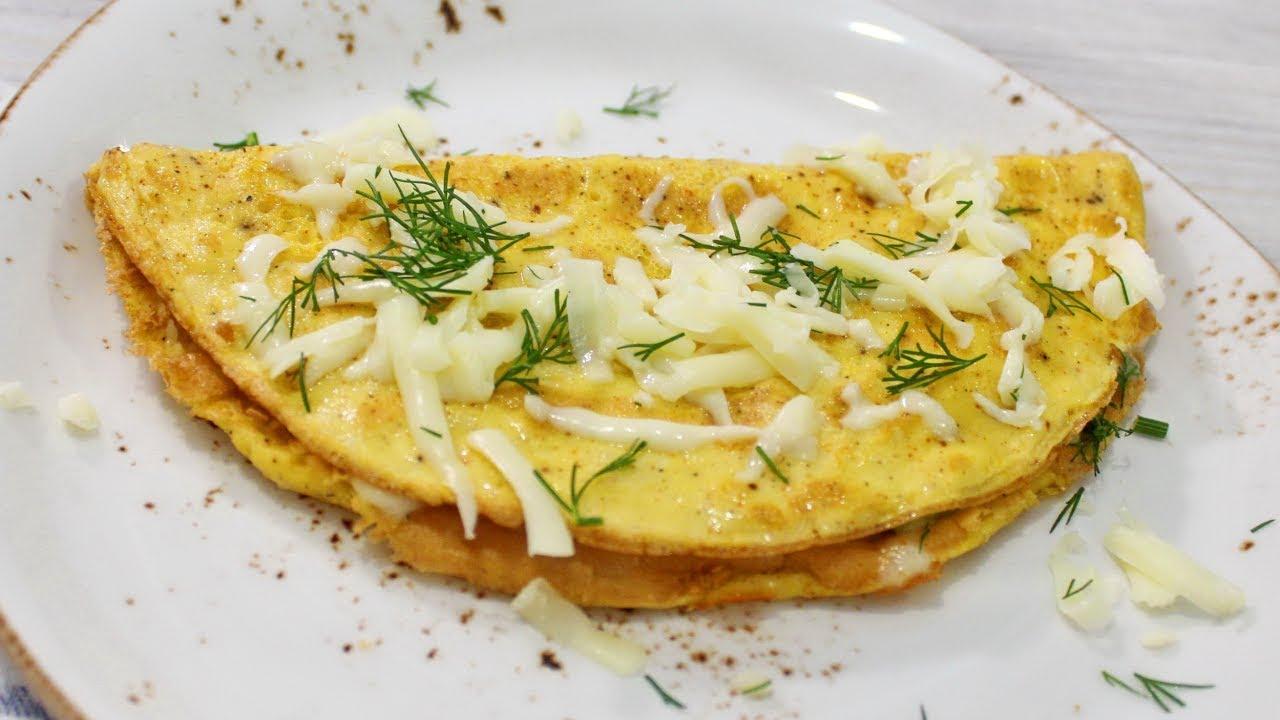 Сырно-овсяный омлет
