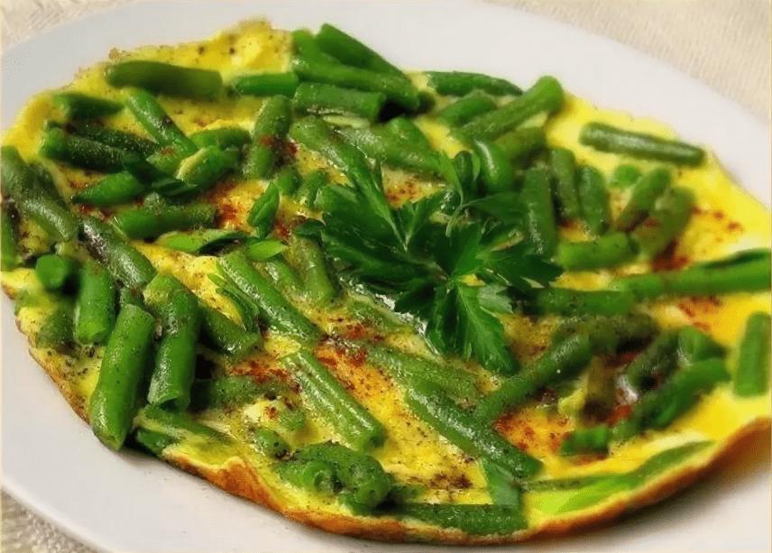 Омлет с фасолью